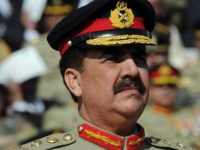 Pakistan's new army chief General Raheel Sharif attends the change of command ceremony in Rawalpindi on November 29, 2013. General Raheel Sharif formally took over as the head of Pakistan's army, the most powerful position in the troubled military-dominated nation which is battling a homegrown Taliban insurgency. AFP PHOTO/Aamir QURESHI