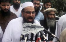 Hafiz Mohammad Saeed, chief of Jamaat-ud-Dawwa and founder of Lashkar-e-Taiba, speaks during an anti-Indian rally on Pakistan's Independence Day in Lahore, Pakistan, Wednesday, Aug. 14, 2013. The Pakistani nation is celebrating its 67th Independence Day, to mark its independence from British rule in 1947. (AP Photo/K.M. Chaudary)