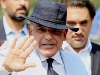 FILE PHOTO: Shahbaz Sharif, Chief Minister of Punjab Province and brother of Pakistan's Prime Minister Nawaz Sharif, gestures after appearing before a Joint Investigation Team (JIT) in Islamabad, Pakistan June 17, 2017. REUTERS/Faisal Mahmood/File Photo