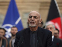 Afghan President Ashraf Ghani, speaks during a joint news conference in presidential palace in Kabul, Afghanistan, Saturday, Feb. 29, 2020.  The U.S. signed a peace agreement with Taliban militants on Saturday aimed at bringing an end to 18 years of bloodshed in Afghanistan and allowing U.S. troops to return home from America's longest war. (AP Photo/Rahmat Gul)